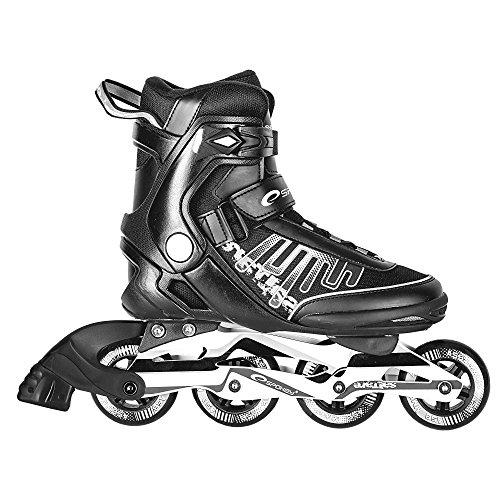 SPOKEY® SALTARE Inline Skates (Kinder Damen Herren Inline Blades ABEC 5 Karbon Aluminium Größen 37-47), Farben:Schwarz;Größe/Size:43
