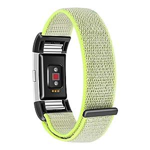 FBGood Leichte Ersatz Uhrenarmband, Unisex Sportarmband Mode Weiches Nylon Schlaufe Geschäft Ersatzband Zubehör Smart Watch Armband für Fitbit Charge 2