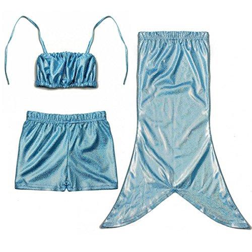 Teure Kostüme (Das beste Badeanzug Mädchen Mermaid Bademode Meerjungfrau-Schwanz Flosse Kostüm Kleinkinder / Baby / Mädchen Bikini Set 3tlg. Badeanzug)