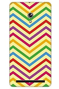 AMAN Multicolours Line Pattern 3D Back Cover for Asus Zenfone 6