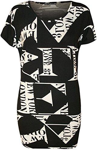 Islander Fashions Haut � manches courtes � manches longues imprim� l�opard (14-28) Love Paris