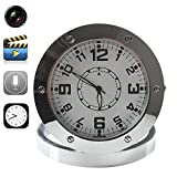 Electro-Weideworld - Round Caméra Horloge murale Caméra Spy Clock Mini caméra Horloge espion caché alarme bureau caméra de surveillance Nanny Clock