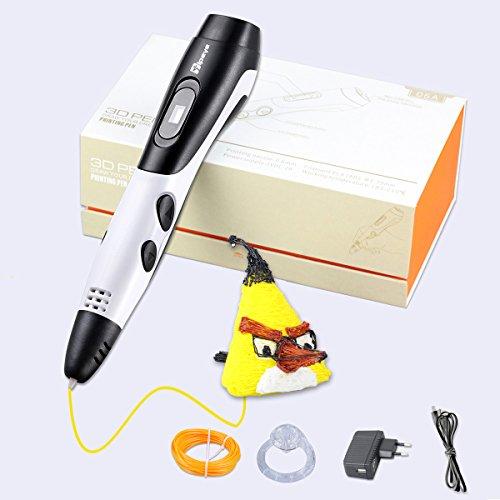 3D Stift Set mit LCD Display, 3D Drucker Stift, 3D Druckstift mit 1.75 mm PLA Filament für Kinder, Erwachsene, Kritzelei, Zeichnung und Kunst & handgefertigte Werke