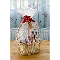 woodluv Create Your Own Wicker Gift Hamper Basket Kit, Christening, Wedding, Baby Shower or Birthday Gift