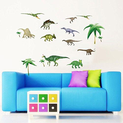 Wandsticker Dinosaurier Wandtattoo Wandbilder Aufkleber für Kinderzimmer Wand Dekoration