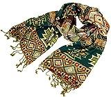 Guru-Shop Pashmina-Viskose Schal/Stola Inkaschal, Herren/Damen, Violett, Synthetisch, Size:One Size, 180x70 cm, Schals Alternative Bekleidung