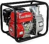 KRAFTHERTZ® Benzin Wasserpumpe Motor Schmutzwasserpumpe Schlamm Pumpe Teichpumpe Gartenpumpe