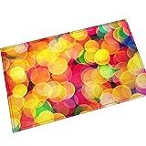 AMDXD Flanell Teppich Bunt Geometrie Blumen Design Teppiche für Wohnzimmer Schlafzimmer Bunt 70x45CM