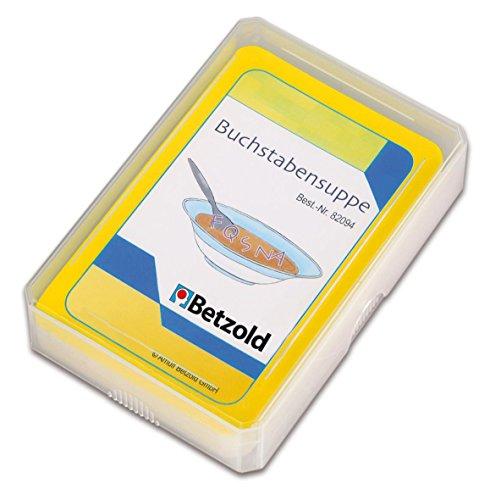 Betzold 48 Karten Buchstabensuppe, Kartenspiel, Rechenspiel, im praktischen und stabilen Kunststoffetui