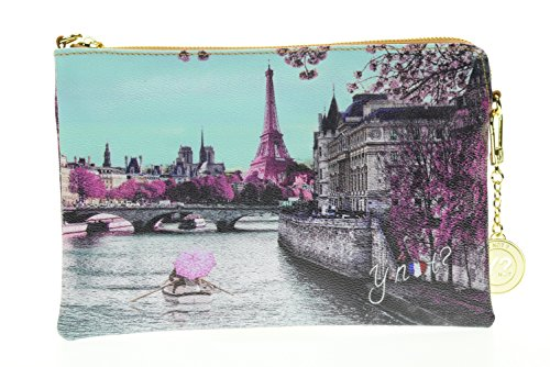 Ynot Piatta Catenella, Borsetta da Polso Donna, Multicolore (Paris Seine), 27.5x18x1 cm (W x H x L)
