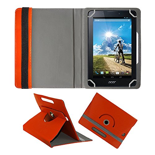 Fastway Rotating 360° Leather Flip Case For Acer Iconia A1-713 8 GB Orange  available at amazon for Rs.299