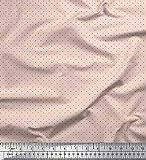 Soimoi Rosa schwere Leinwand Stoff schwarz dots Stoff
