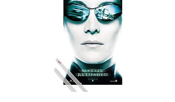 1art1® Poster + Suspension : Matrix Poster (98x68 cm) Reloaded, Trinity, Lunette De Soleil I Et Kit De Fixation Noir