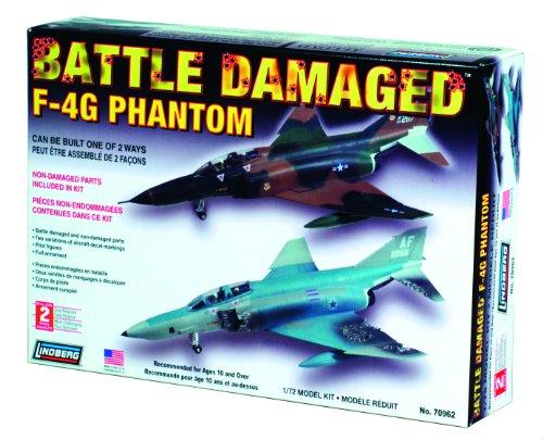 Lindberg Models Battle Damaged F-4G Phantom 1/72 Building Kit