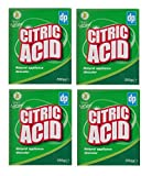 4 x DP Clean & Natural Citric Acid Natural Appliance Descaler Limescale Remover 250g