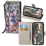 JZ Xperia XA1 3D Colorful Wallet Case,Sony Xperia