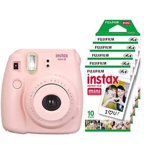 fujifilm-instax-mini-8-camara-instantanea-flash-1-60-sec-color-rosa-5-paquetes-de-peliculas-fotograf