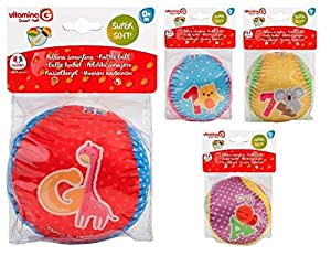 GLOBO- Soft Ball cm10 con Rattle 4 asst (05355), (1)