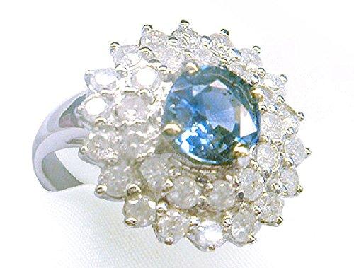 3.03ct zaffiro di Ceylon & Diamond-Anello in oro bianco 14 k - Ceylon Sapphire