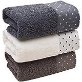 3pcs toalla de baño toalla de algodón suave algodón toalla de se puede lavar a máquina.