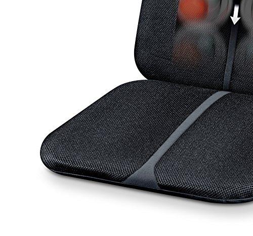 Beurer MG 205 Shiatsu-Sitzauflage, Rückenmassage, Licht- und Wärmefunktion, schwarz/grau -