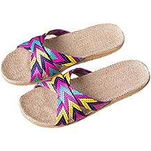 LUCKYCAT Amazon, Sandales d été Femme Chaussures de Été Sandales à Talons  Chaussures Plates cd7b6788b334