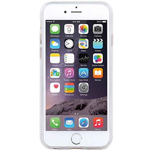 HB-Int Hülle für iPhone 6 / 6S Silikon Transparent mit Bunt Mandala Muster 3D Drucken Ultra Dünn Schutzhülle Flexible Case Weich TPU Bumper Durchsichtig Handytasche Half Mandala