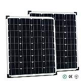 2x Offgridtec® 80 Watt Solarmodule - 80W Solarpanel Solarzelle Modul