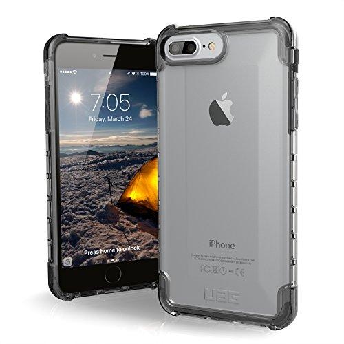 Urban Armor Gear Plyo Hülle für das Apple iPhone 8 Plus / 7 Plus / 6S Plus Handyhülle nach US-Militärstandard (Qi kompatibel, Verstärkte Ecken, Vergrößerte Tasten) - transparent Ultra Light Feather Case