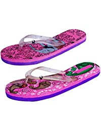IndiStar Womens Rubber Printed Hawaii Slipper House Flip Flop(Pack Of 2) - B079TYFP75