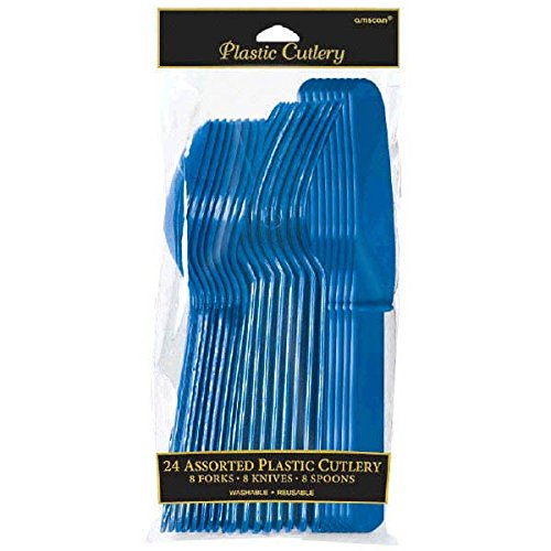 amscan Partyzubehör 24 Piece Bright Royal Blue -