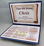 65TH BIRTHDAY GIFT - THE DAY YOU WERE BORN - 1952- PRESENTATION FOLDER