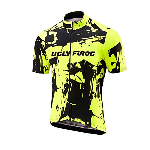 Uglyfrog 2018 Nuovo Gli Uomini Sono Sport all'Aria Aperta Usura Manica Corta Traspirante Ciclismo Maglia Bicicletta Abbigliamento Completo Camicia Moto Zip ITDXETB8