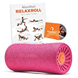 Relaxroll ® (Das Original) Faszienrolle, pink/orange 100% Made in Germany, inkl. Übungs-DVD und Übungs-Flyer