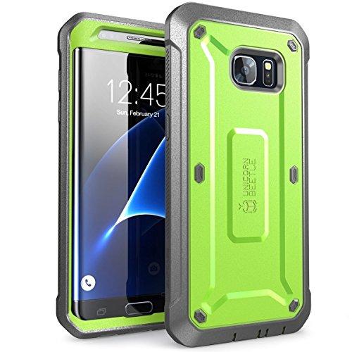 Galaxy S7Edge Schutzhülle, SUPCASE Ganzkörper-Rugged Case mit integriertem Displayschutz für Samsung Galaxy S7Edge (2016Release), Unicorn Beetle PRO Serie-Retail Paket (schwarz/schwarz) -