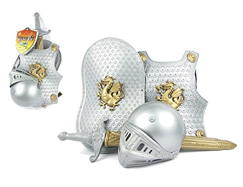 Ritter Kostüm Rüstung - THEE Mittelalter Brustpanzer Ritter Rüstung Kostüm für Kinder Halloween Karneval Fasching Spielzeug Weinachten Geschenk