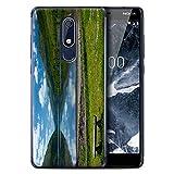eSwish Custodia/Cover/Caso/Cassa Rigide/Prottetiva Stampata con Il Disegno Paesaggi Scozzesi per Nokia 5 2018 (5.1) - Loch/da Banco