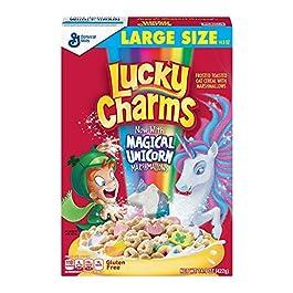 Lucky Charms, cereali di avena tostati e glassati con marshmallow, 453 g, 2 confezioni (etichetta in lingua italiana non…