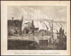 Antique Print-DIEPPE-HAUTE NORMANDIE-HOTEL PACQUET BOAT-Thornton-Bryant-1806
