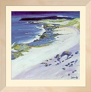 Plage de Iona - Ecosse Poster encadré de John Lowrie Morrison 79 x 78 cm