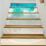 Fandhyy DIY 3D Schritte Aufkleber Keramikfliesen Muster Treppen Aufkleber Aufkleber Hochzeit Home Decor6Pcs / Set