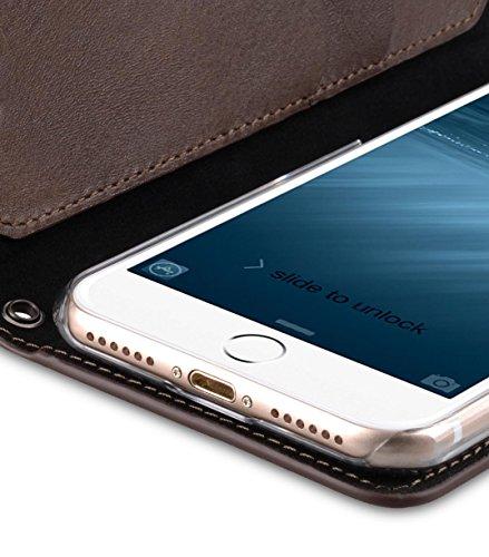 Apple Iphone 7 Melkco Elite-Serie Premium Leder-Snap zurück Tasche Tasche mit Premium-Leder Handgefertigte gute Schutz, Premium Feel-Tan Italian Brown
