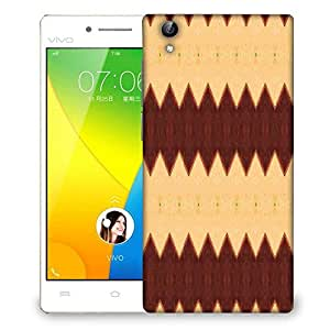Snoogg Yellow And Brown Designer Protective Phone Back Case Cover For VIVO Y51 L