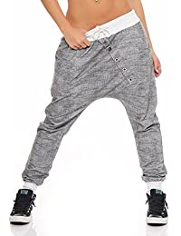 "Malito Pantaloni Boyfriend en el ""Tejer"" Design Baggy Aladin Bombacho  Sudadera 7398 Mujer Talla 9ea344cb57c7"