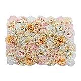 Gazechimp Künstliche Blumen Säule Kunstblumen Wand Schaufenster Straße Hochzeit Deko - Champagner