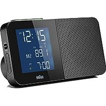 Braun BNC010 Funkwecker mit Radio, schwarz