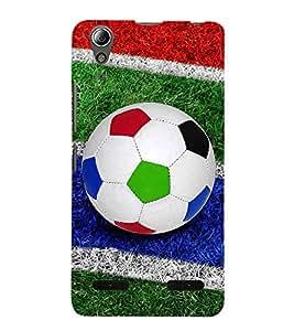 PrintVisa Colourful Football 3D Hard Polycarbonate Designer Back Case Cover for Lenovo A6000 Plus :: Lenovo A6000+ :: Lenovo A6000