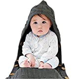 Neugeborenes Baby Wickeldecke für 0-12 Monate Baby (grau)