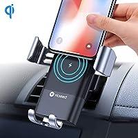 VICSEED Wireless Charger Auto Lüftung Qi Ladestation Wireless KFZ Ladegerät 10W Induktive Ladestation für iPhone XS Max Xs Xr 8 8 Plus, Samsung Galaxy Note 9 S9 S9 Plus S8