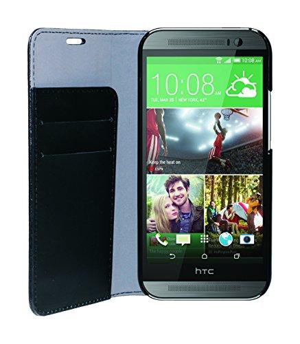 Phonix HTCO8BCB Öko-Lede Buch-Hülle für HTC One M8S schwarz
